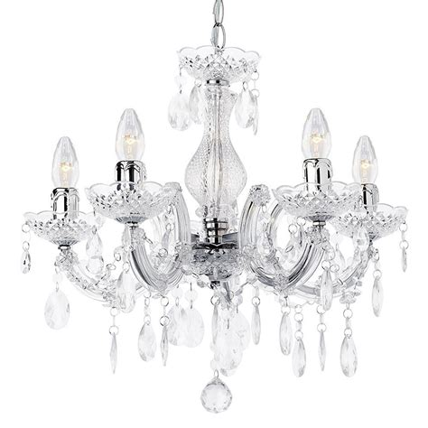 Ceiling Lights Kitchen by Marie Therese Chandelier 5 Light Dual Mount Chrome From