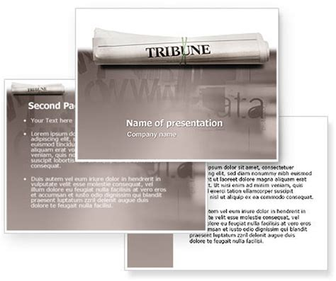 tribune magazine powerpoint template poweredtemplate com