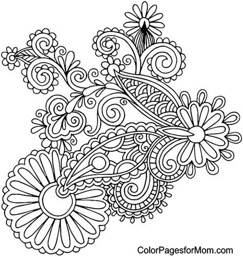 paisley color printable paisley coloring pages images