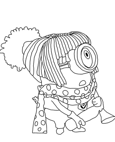 coloring pages of girl minions kids n fun com 36 coloring pages of minions