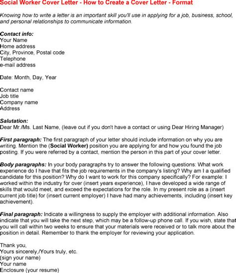 Sle Cover Letter For Human Services social service worker cover letter 28 images sle