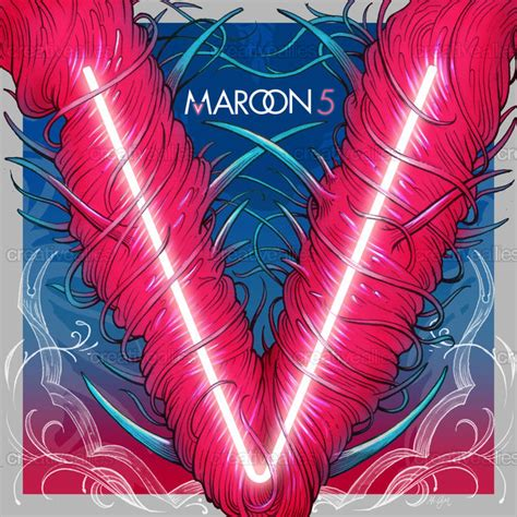 design cover maroon 5 maroon 5 album cover by gabriel marques