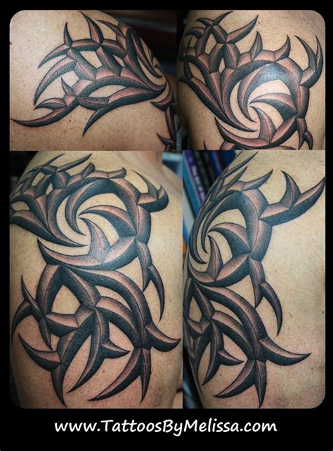 3d tattoos tribal 3d tribal arm and shoulder artist capo www