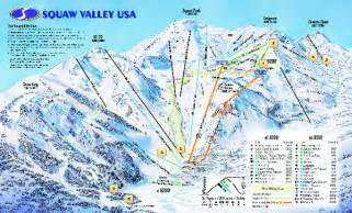 squaw valley california map squaw valley usa trail map alpine california