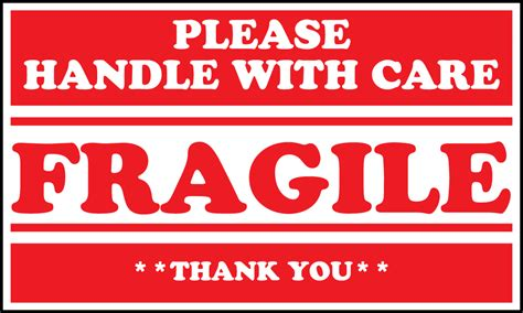 shipping label fragile handle with care fragile handle with care 5 quot x 3 quot shipping labels