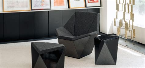 washington prism lounge chair and ottoman by david adjaye