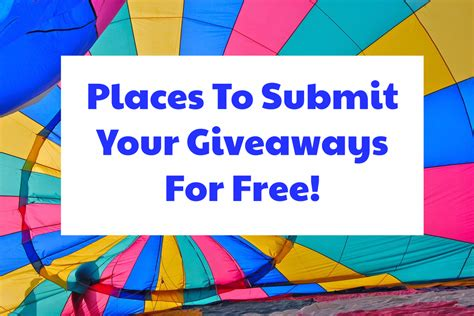 Sweepstakes Submission Sites - websites offering sweepstakes submissions enter online sweeps