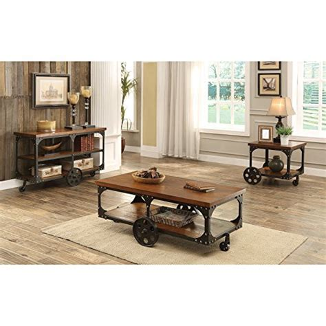 coaster industrial sofa table coaster furniture industrial sofa table with shelf and