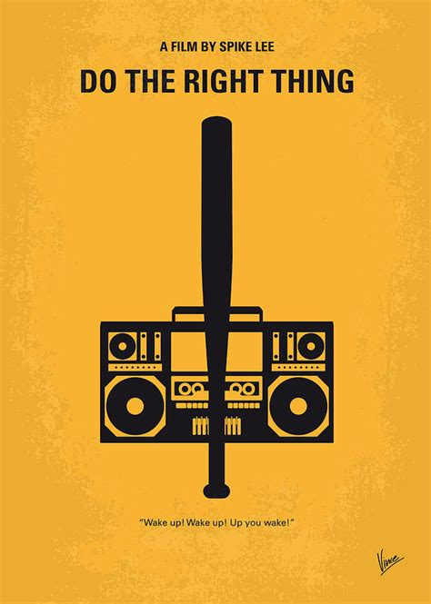 the thing minimalist poster no179 my do the right thing minimal poster digital