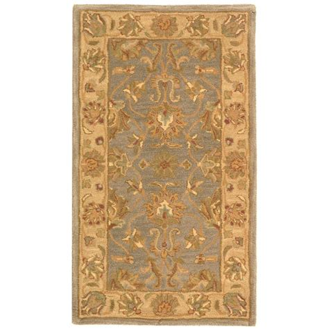 3 X 4 Area Rugs Safavieh Heritage Blue Beige 2 Ft 3 In X 4 Ft Area Rug Hg343b 24 The Home Depot