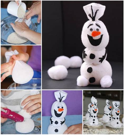 frozen sock snowman creative ideas diy adorable sock snowman