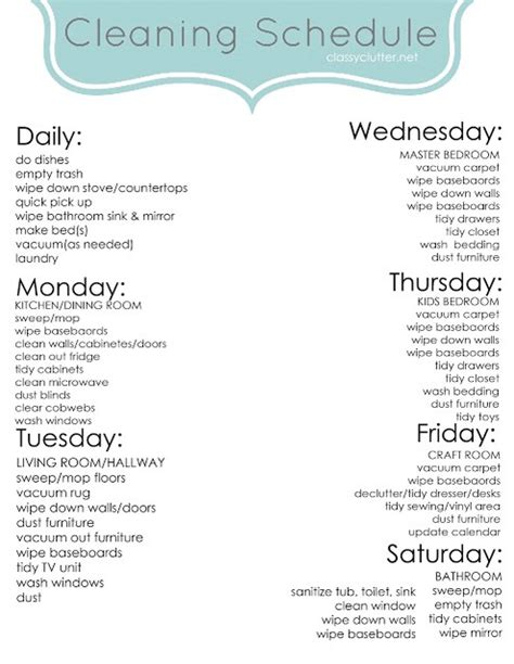 how to keep a clean house schedule musely