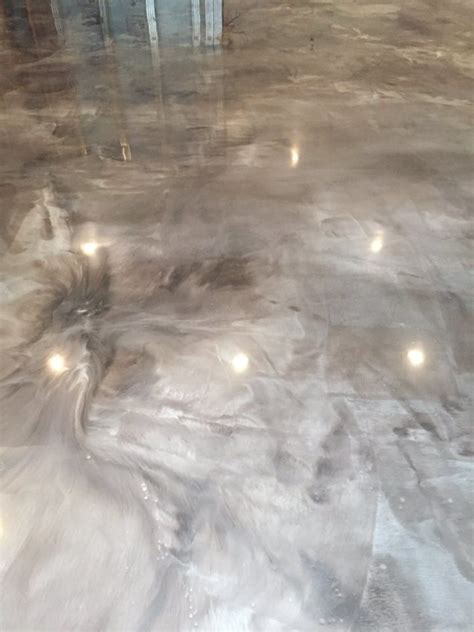 Epoxy Plus Epoxy plus Twitter Pearl Metallic Epoxy Floor