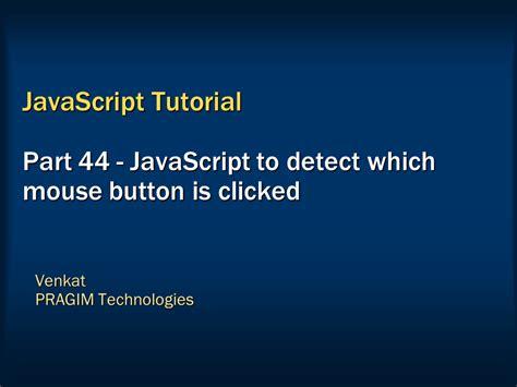 Javascript Tutorial Venkat | sql server net and c video tutorial javascript to