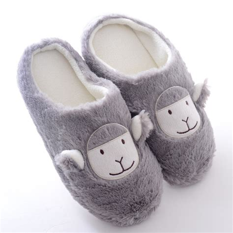 cute house slippers new slippers home plush sippers for men women winter gary alpaca house shoes warm cute home