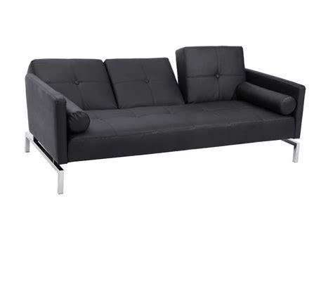 Sofa Casa Leather by Dreamfurniture Divani Casa 3038 Modern Black