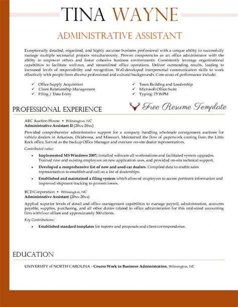 Administrative assistant resume template ? Resume Templates