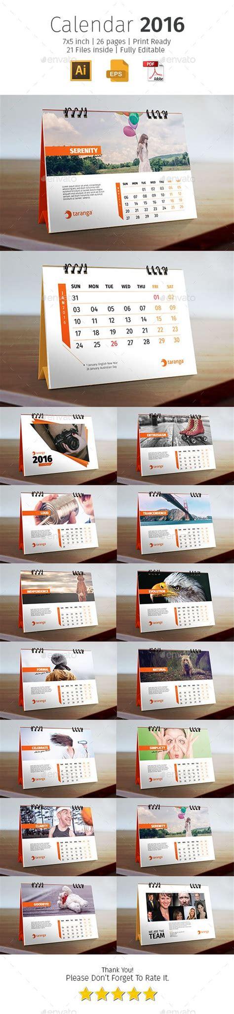 layout desk calendar 2016 corporate desk calendar template design download
