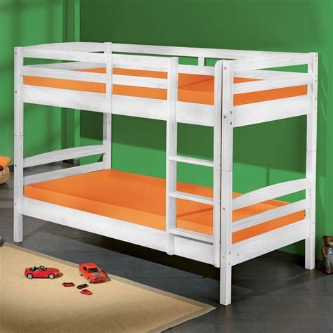 letti a letto a rick in legno massiccio bianco