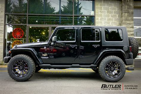 black jeep tires jeep wrangler with 20in black rhino selkirk wheels