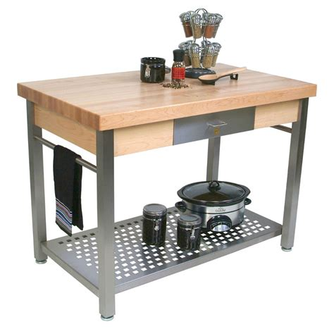 stainless steel kitchen island with butcher block top boos butcher block tables kitchen islands