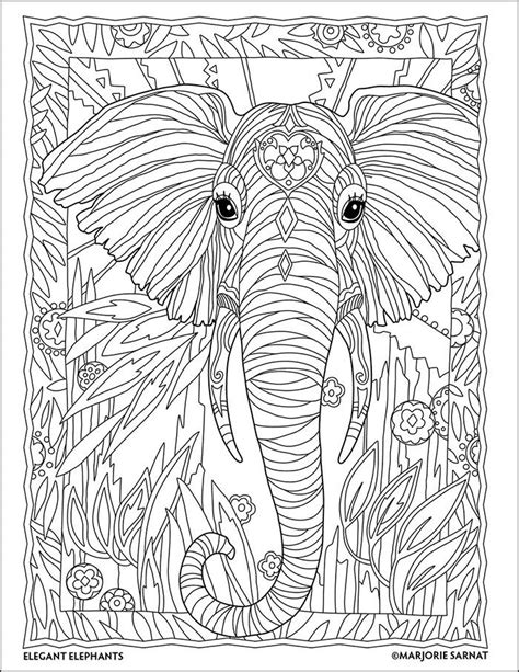 jungle coloring pages for adults jungle portrait the art of marjorie sarnat elegant