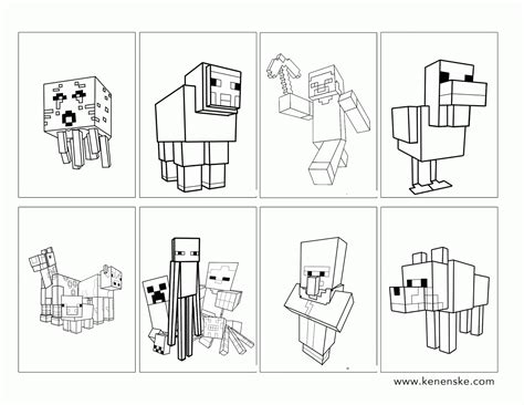 detailed minecraft coloring pages minecraft mobzilla free colouring pages