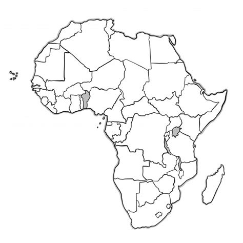 a sketch of africa map africa vectors photos and psd files free