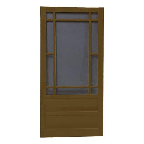 Screen Doors Lowes by Shop Screen Tight Wood Screen Door Common 30 In X 80 In