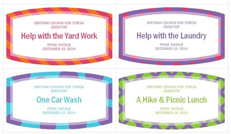 coupon templates free birthday gift coupons birthday gift coupons template