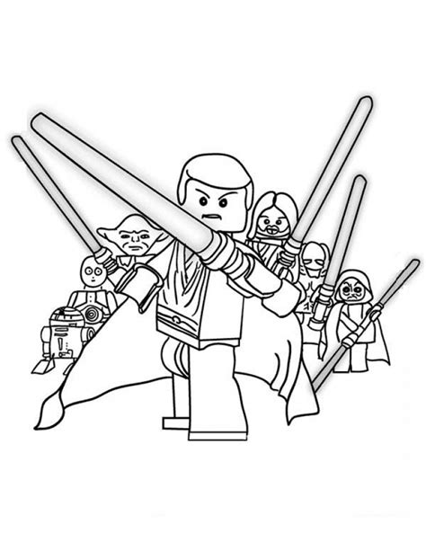 coloring pages lego wars free lego wars free coloring pages
