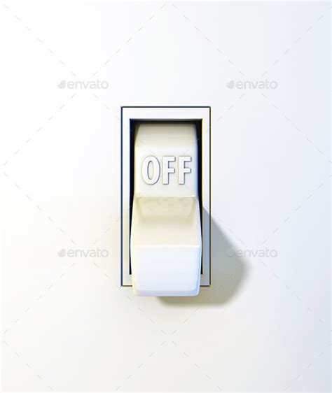 lights when closed up of a wall light switch position by