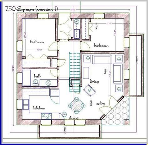 rectangle house plans rectangular square straw bale 750 square foot house plans straw bale house plan 750