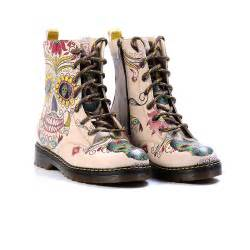 goby women shoes buttercup sugar skull combat boot sugar skulls