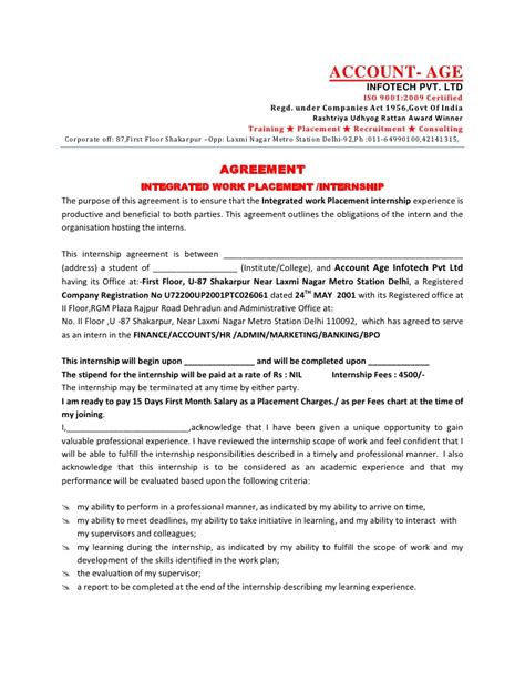 Appointment Letter For In India Letter Of Intent Loi Appointment Letter