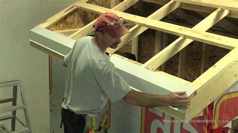 build  shed part  installing sheet metal roof