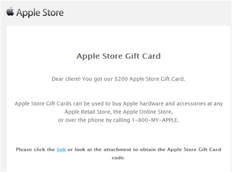How To Email A Gift Card - fake apple store gift card themed emails serve client side exploits and malware