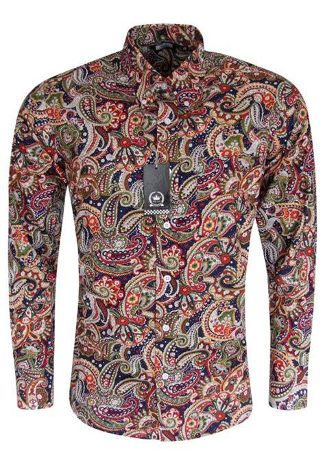 paisley pattern hoodies relco navy shirt with multi paisley pattern shirts and