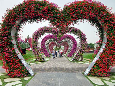Dubai Miracle Garden Largest Flower Garden In The World Dubai Flower Garden