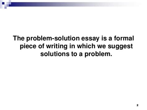 problem solution sle essay problem solution essay sles exles 28 images topic for