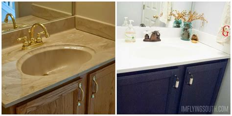 how to paint a bathroom sink remodelaholic painted bathroom sink and countertop makeover