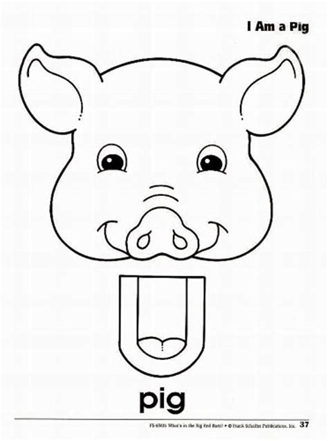 8 best images of pig puppet printable cow paper bag