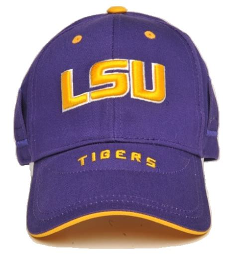 lsu tigers school color cap
