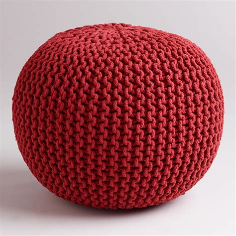 Chili Pepper Home Decor by Chili Pepper Knitted Pouf World Market