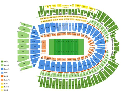 ohio state stadium seating chart viptix ohio stadium tickets