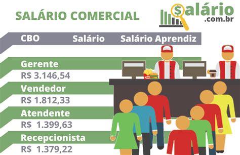 valor salrio comercial 2016 rs sal 225 rio comercial 2018 tabela de cargos e sal 225 rios do