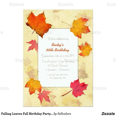 free printable fall invitation templates fall invitations invitations templates