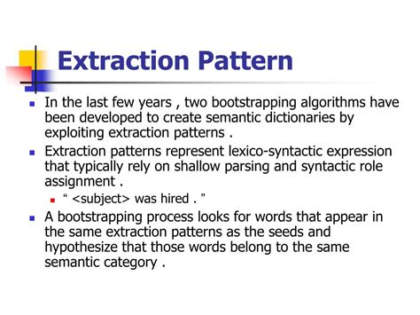 same pattern words ppt learning subjective nouns using extraction pattern