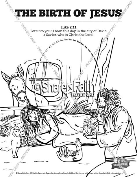 coloring page of the birth of jesus the birth of jesus sunday school coloring pages sunday