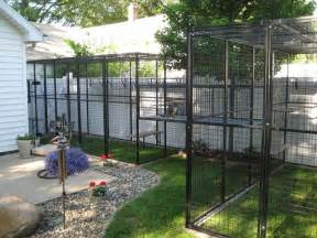 Patio Fencing For Pets Cat Enclosure Attached To House Outdoor Room Pinterest